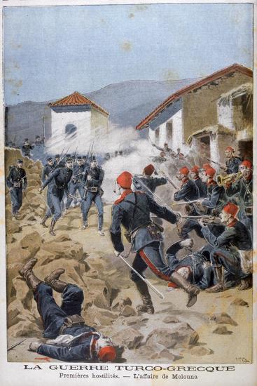 Battle of Meluna, Greco-Turkish War, 1897-Henri Meyer-Giclee Print