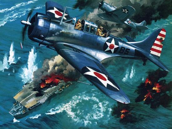 Battle of Midway Giclee Print by Wilf Hardy | Art com