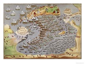 Battle of Navarino, 1827, from the Pictorial History of the Greek War of Independence