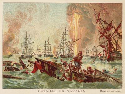 Battle of Navarino, 1827-Jean Charles Langlois-Giclee Print