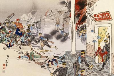 Battle of Nwe-Chan, 1895, First Sino-Japanese War, China--Giclee Print