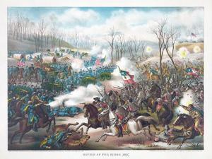 Battle of Pea Ridge, Arkansas, Pub. Kurz and Allison, 1889