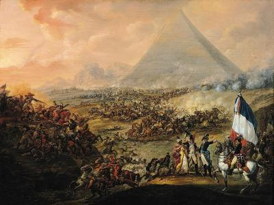 Battle of Pyramids, 21 July 1798-Francois Louis Joseph Watteau-Giclee Print