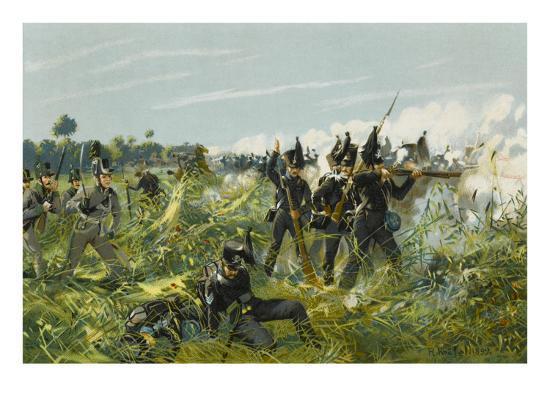 Battle of Quatre Bras--Giclee Print