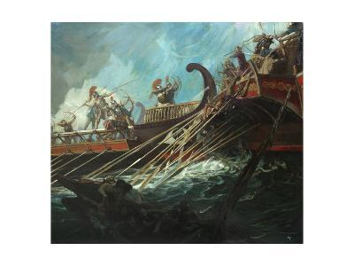 Battle of Salamis, 480 Bce-Stanley Meltzoff-Giclee Print