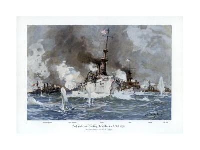 Battle of Santiago De Cuba, 3 July 1898-Willy Stower-Giclee Print