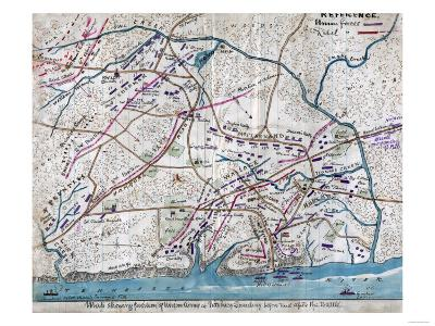 Battle of Shiloh - Civil War Panoramic Map-Lantern Press-Art Print
