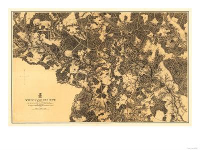 Battle of Spotsylvania Court House - Civil War Panoramic Map-Lantern Press-Art Print