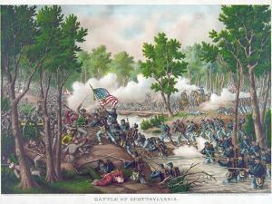 Battle of Spotsylvania, Pub. Kurz and Allison, 1888