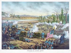 Battle of Stones River, Pub. Kurz and Allison, 1891