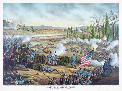 Battle of Stones River, Pub. Kurz and Allison, 1891--Giclee Print