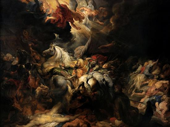 Battle of the Amazons, 1616-1618-Peter Paul Rubens-Giclee Print