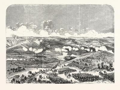 Battle of the Bridge of Traktir on the Tchernaya. According to Official Documents. 1855.--Giclee Print
