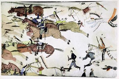 Battle of the Little Big Horn, Montana, USA, 25-26 June 1876--Giclee Print
