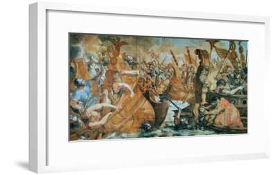 Battle of the Milvian Bridge, 312 Ad: Defeat of Maxentius by Constantine--Framed Giclee Print