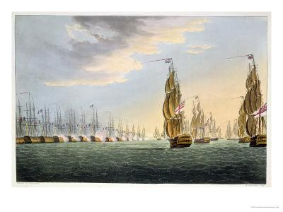 "Battle of the Nile, August 1st 1798, for J. Jenkins's ""Naval Achievements""-Thomas Whitcombe-Giclee Print"