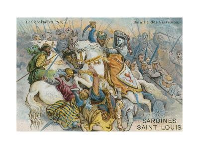 Battle of the Saracens--Giclee Print