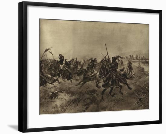 Battle of the Spurs, 1513-Henri-Louis Dupray-Framed Giclee Print