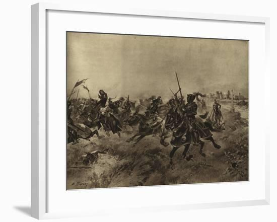 Battle of the Spurs, 1513-Henri-Louis Dupray-Framed Giclee Print
