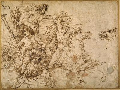 Battle of the Tritons, after Anrea Mantegna-Raphael-Giclee Print