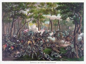 Battle of the Wilderness, Pub. Kurz and Allison, 1887