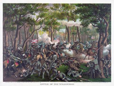 Battle of the Wilderness, Pub. Kurz and Allison, 1887--Giclee Print