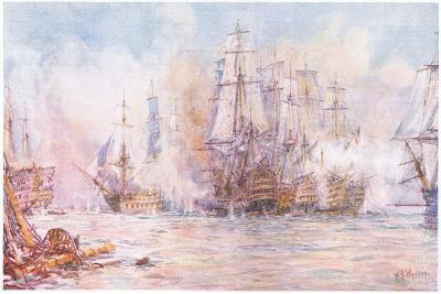 Battle of Trafalgar 1805, 1915-William Lionel Wyllie-Giclee Print