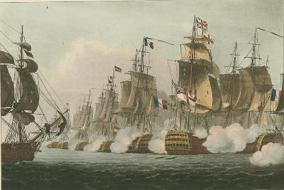 Battle of Trafalgar, 1805-Thomas Whitcombe-Giclee Print