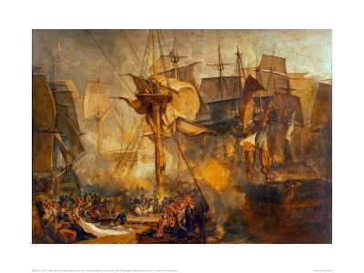 Battle of Trafalgar as Seen from the Victory, 1806-J^ M^ W^ Turner-Giclee Print