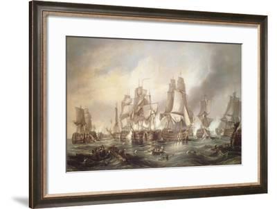 Battle of Trafalgar, October 21, 1805, Spain--Framed Giclee Print