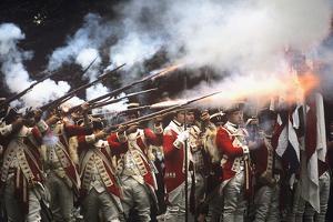 Battle of Trenton Following Washington Crossing the Delaware