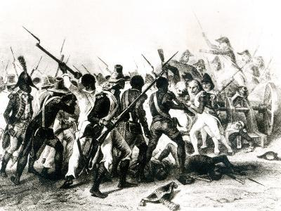 Battle of Vertieres, San Domingo, 18th November 1803, Engraved by Frilley, 1803--Giclee Print