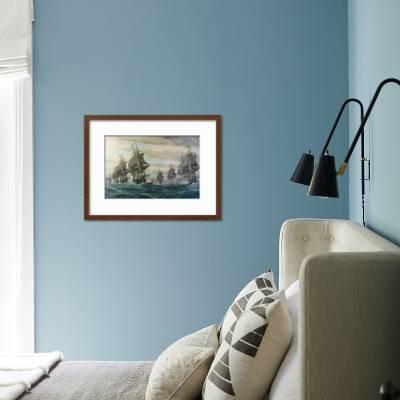 Battle Of Virginia Capes Art Print V Zveg Art Com