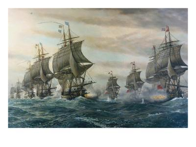 Battle of Virginia Capes-V^ Zveg-Art Print