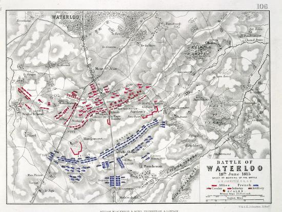 Battle of Waterloo, 18th June 1815, Sheet 1st-Alexander Keith Johnston-Giclee Print