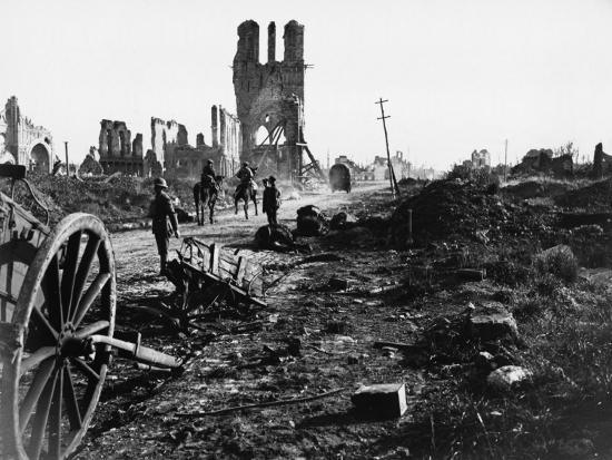 Battle of Ypres 1918-Robert Hunt-Photographic Print
