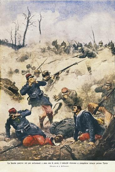 Battle of Ypres, Effects of Poison Gases, 1915--Giclee Print