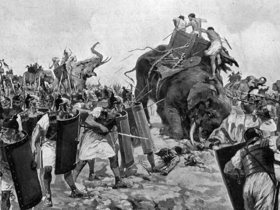 Battle of Zama During Second Punic War--Photographic Print