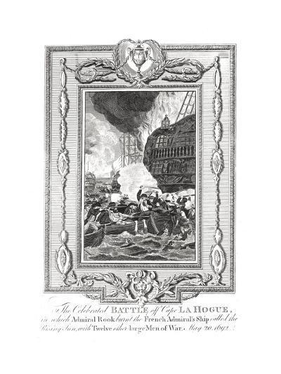 Battle Off Cape Lahogue, 1692--Giclee Print