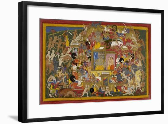 Battle Scene at Lanka-Sahib Din-Framed Giclee Print