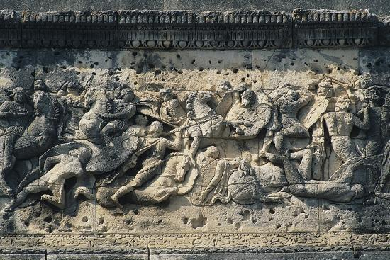 Battle Scene Between the Gauls and Romans, Relief from the Arch of Triumph in Orange--Photographic Print
