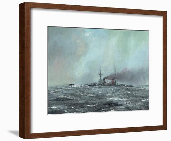 Battlecruiser Derfflinger 1916, 2016-Vincent Alexander Booth-Framed Giclee Print
