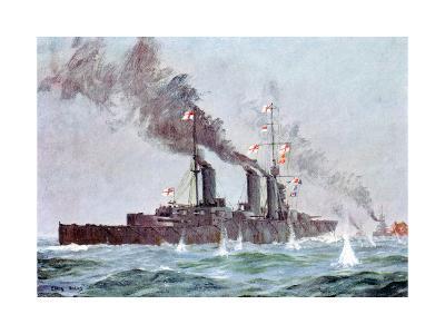 Battlecruiser HMS Lion Coming into Action, Battle of Jutland 31 May - 1 June 1916--Giclee Print