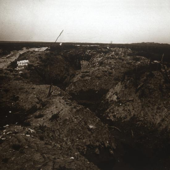 Battlefield, Craonne, northern France, c1914-c1918-Unknown-Photographic Print