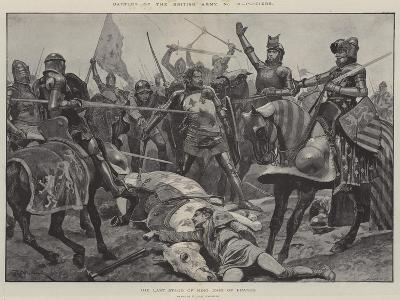 Battles of the British Army, Poitiers, the Last Stand of King John of France-Richard Caton Woodville II-Giclee Print