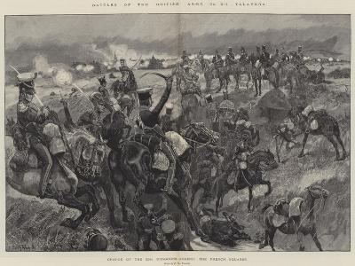 Battles of the British Army, Talavera, Charge of the 23rd Dragoons Against the French Squares-Richard Caton Woodville II-Giclee Print