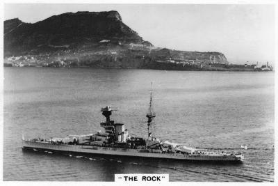 Battleship HMS Revenge Off Gilbralter, 1937--Giclee Print