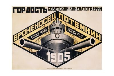 Battleship Potemkin 1905 Poster-Alexander Rodchenko-Giclee Print