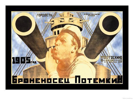 Battleship Potemkin 1905-Anton Lavinsky-Art Print