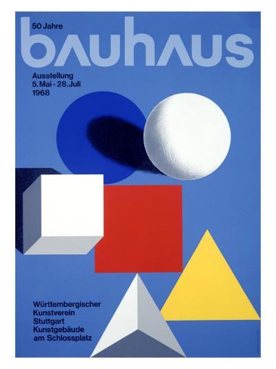 Bauhaus Ausstellung, 50 Jahre--Giclee Print